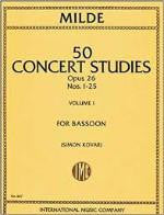 50 Concert Studies - Opus 26 - Nos. 1-25 - Volume I - For Bassoon - Milde/Kovar - H & H Music