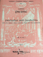 Preludio and Fughetto for Two Flute, Oboe,  Clarinet, Horn and Two Bassoons - Op. 40, No. 1 - Kalmus Chamber Music Series - Pierne