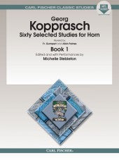 Sixty Selected Studies for Horn - Book 1 - With CD - Kopprasch/Revised by Gumpert and Frehse - H & H Music