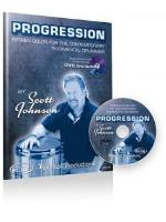 Progression - Fifteen Solos for the Contemporary Rudimental Drummer - With DVD - Johnson