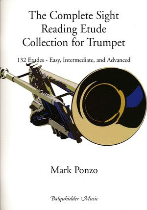 The Complete Sight Reading Etude Collection for Trumpet - 132 Etudes - Ponzo - H & H Music