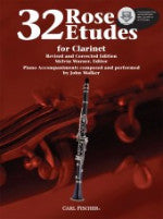 32 Rose Etudes for Clarinet - Edited by Warner - With CD - H & H Music