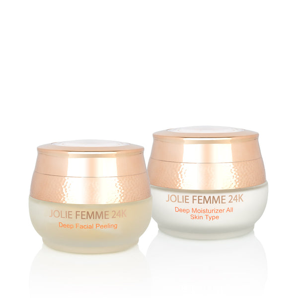 24K Deep Moisturizer (All Skin Type) & Facial Peeling