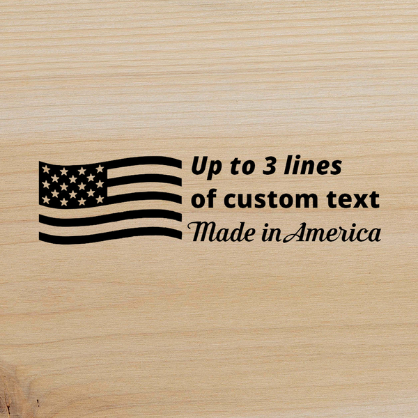 Customizable Branding Iron Designer - Made in America - Horizontal - The Custom Brand Shop