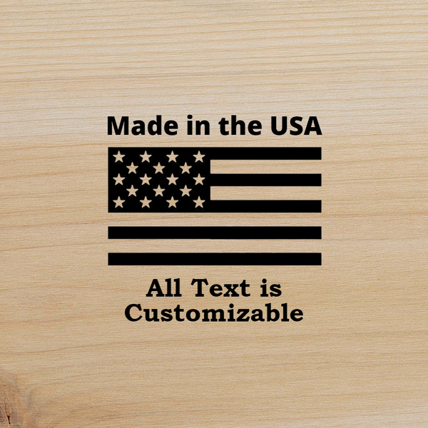 Customizable Branding Iron Designer - Made in America - Square - The Custom Brand Shop