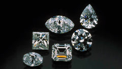 Multiple Natural Diamonds in Different Cuts.