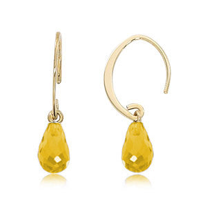 Carla Mini Citrine Simple Sweep Earrings
