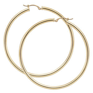 Carla Large Tube Hoops