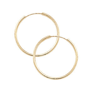 Yellow Gold Endless Hoops- 25mm - Silverscape Designs