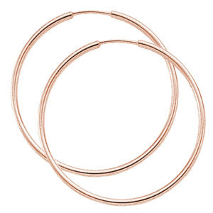 1.5 x 40mm Endless Hoops in Rose Gold - Silverscape Designs