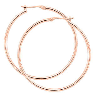 1.5 x 30mm Tube Hoop in Rose Gold - Silverscape Designs