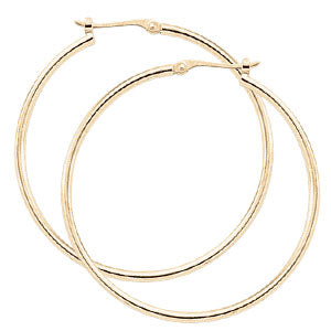Yellow Gold Hoops with Hinged Ear Wire - Silverscape Designs