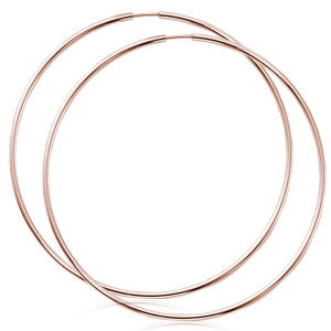 1.5 x 60mm Endless Hoop in Rose Gold - Silverscape Designs