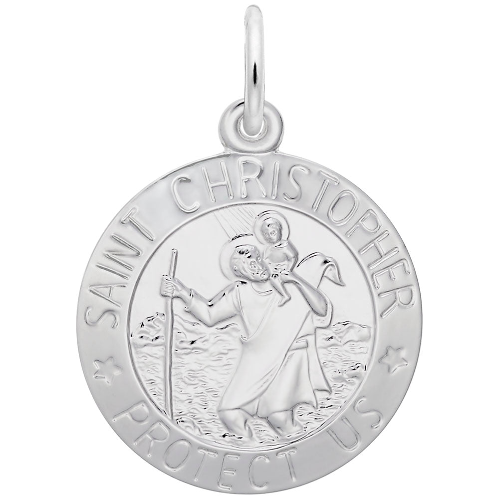 St. Christopher Disc Charm - Silverscape Designs