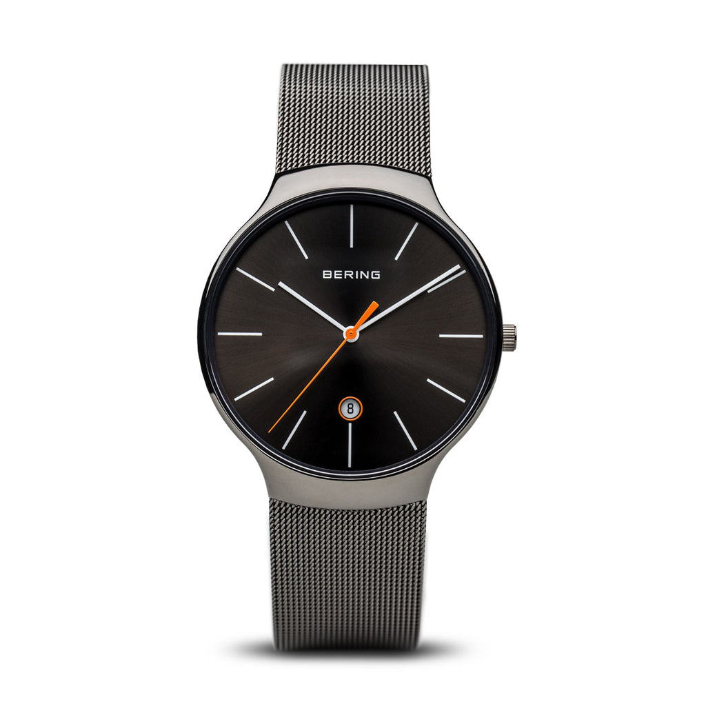 Unisex Milanese Charcoal Grey Watch