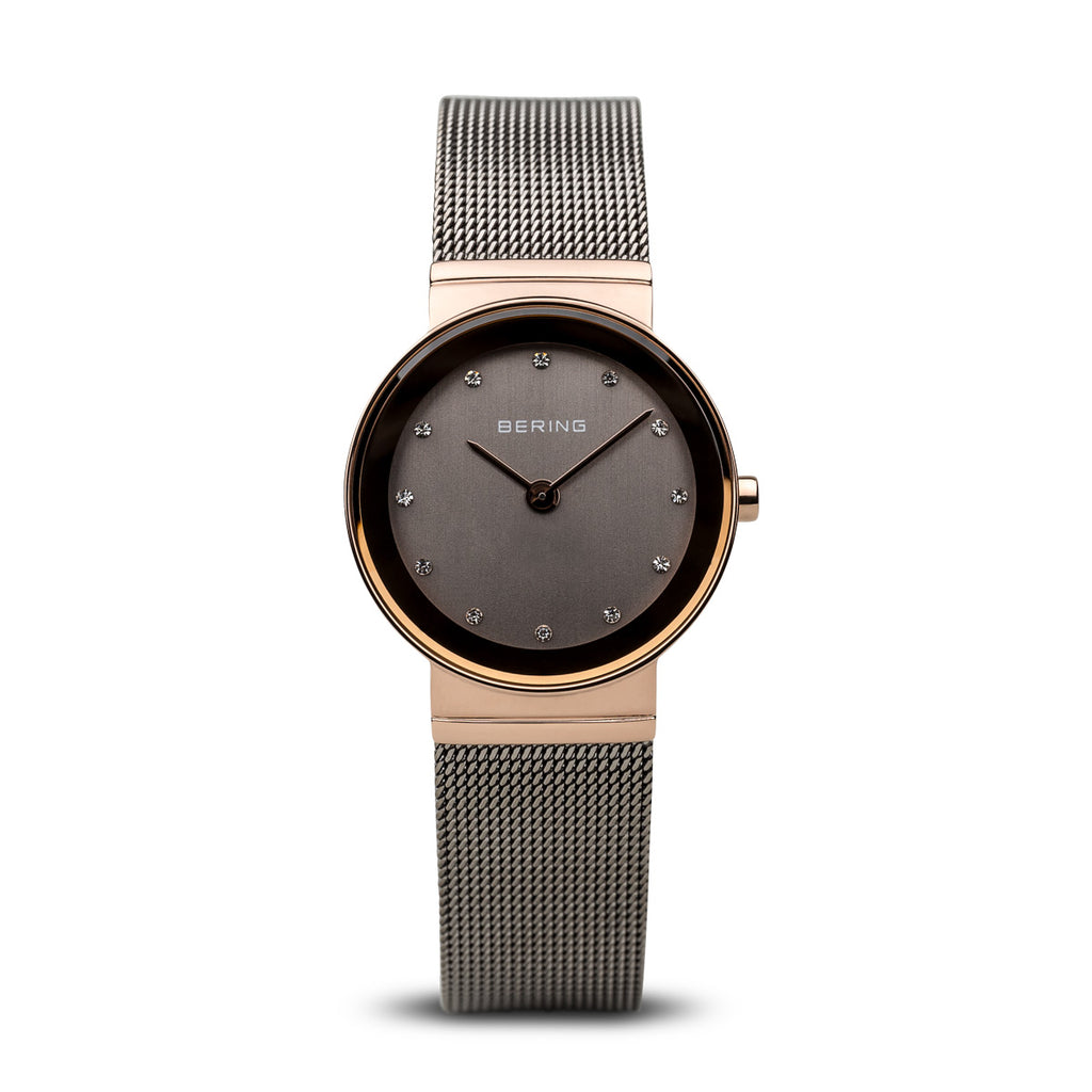 Classic Brown Crystal Watch - Silverscape Designs