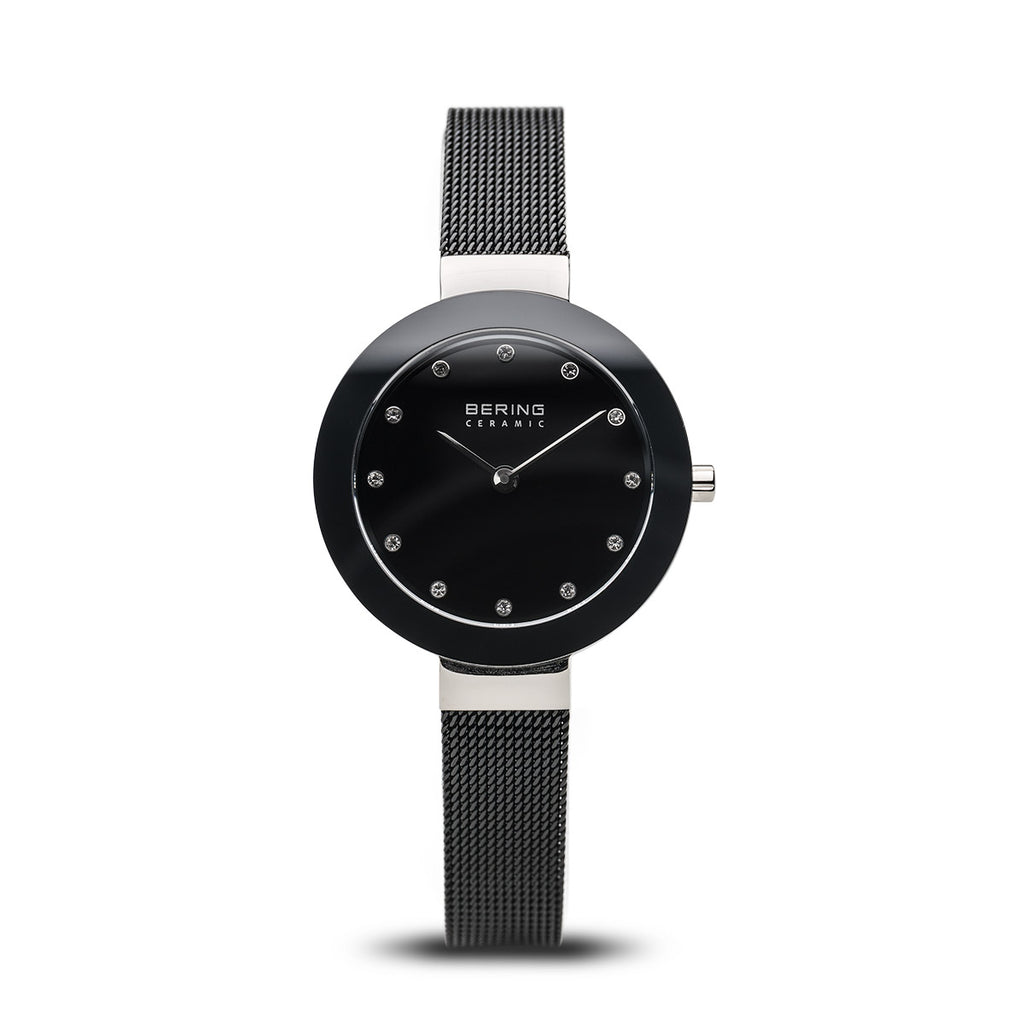Black Ceramic Polished Silver Watch - Silverscape Designs