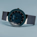 Navy Ceramic Polished Silver Watch - Silverscape Designs