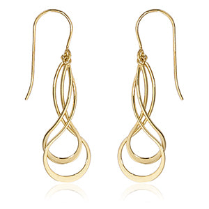 Mini Double Twist Earrings in Yellow Gold - Silverscape Designs