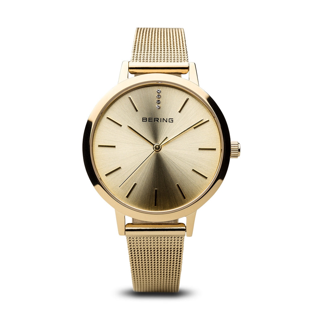Classic Polished Gold Tone Watch