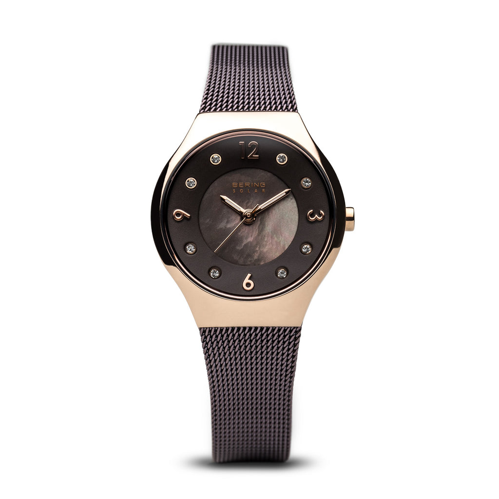 Brown Solar Watch