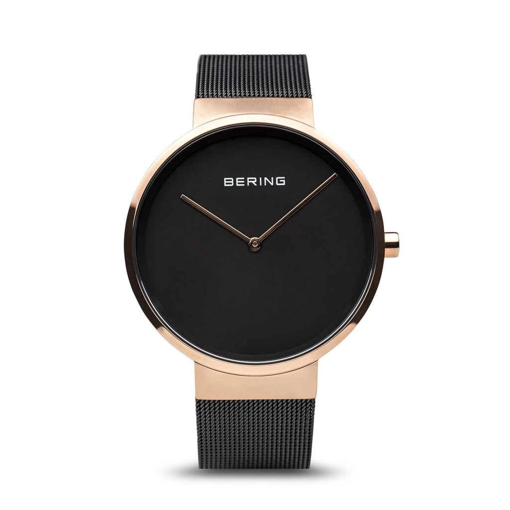 Classic Black and Rose Gold Watch - Silverscape Designs