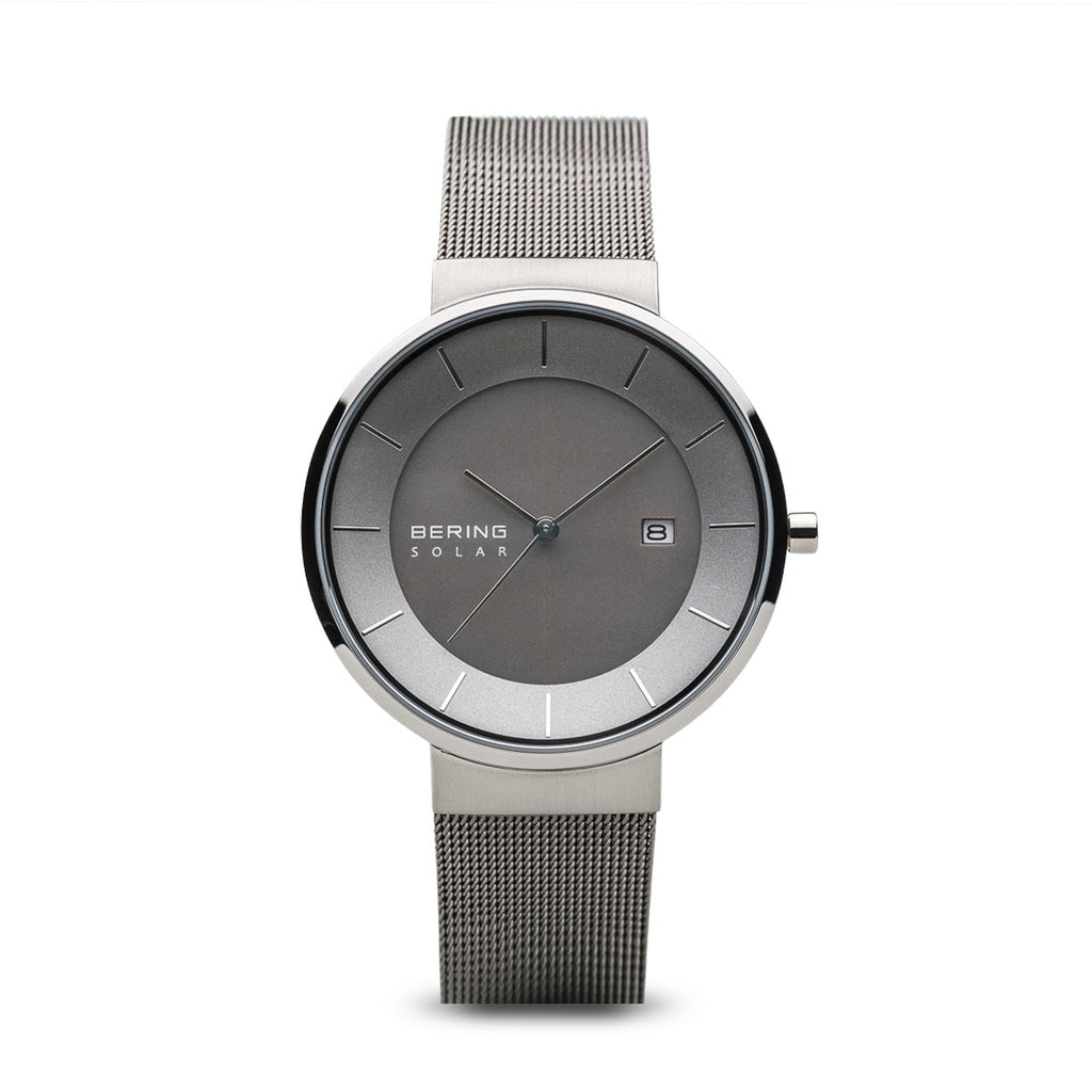 Matte Grey and Polished Silver Watch - Silverscape Designs