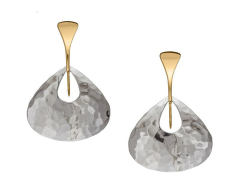 Sterling Silver Yellow Gold Jamaica Earrings