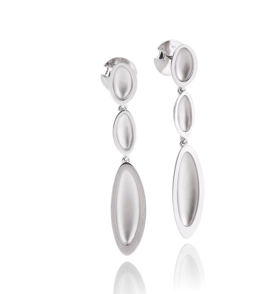 Sterling Silver Pebble Drop Earrings