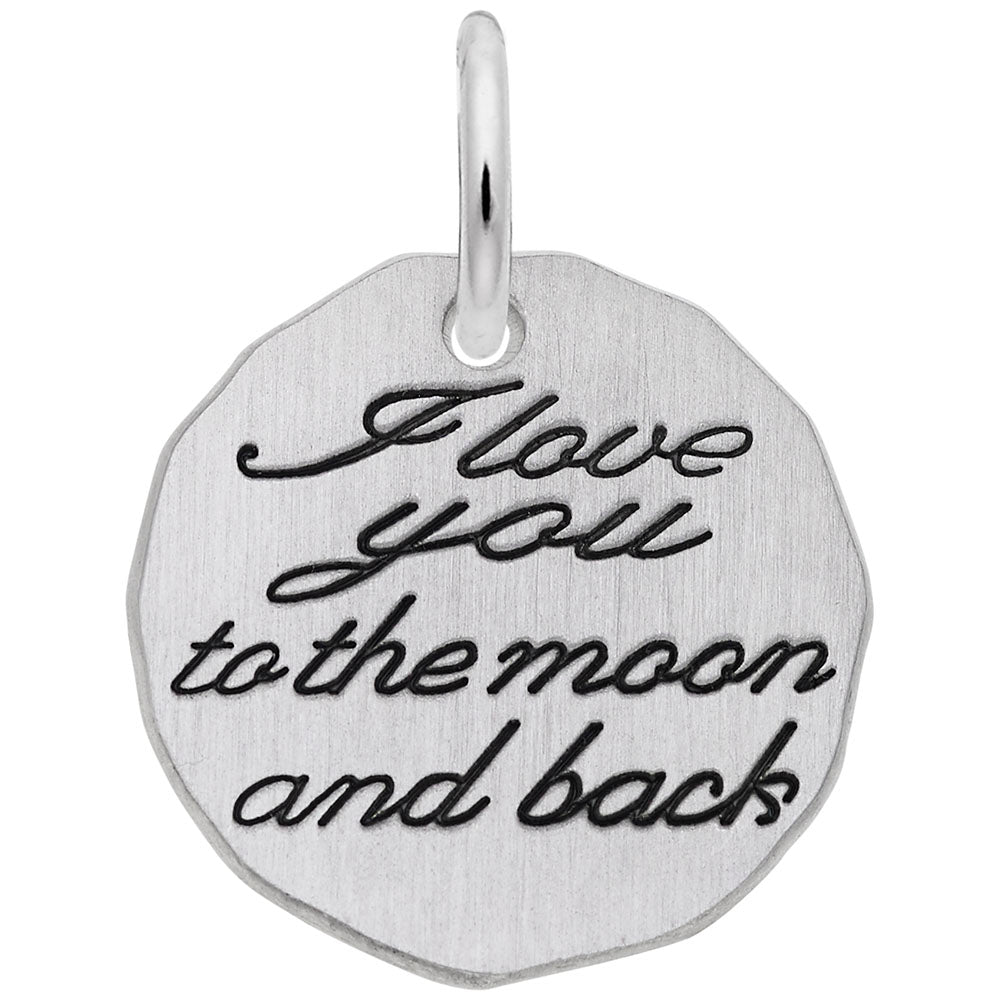 I Love You To The Moon And Back Charm - Silverscape Designs
