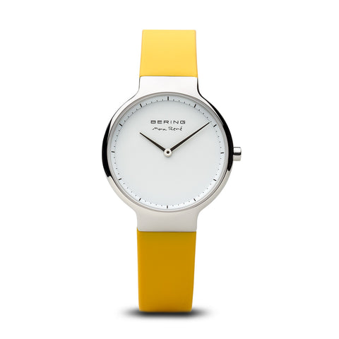 Max René Interchangable Band Yellow Watch