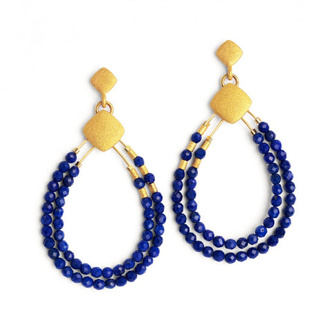 Clini Lapis Teardrop Earrings - Silverscape Designs