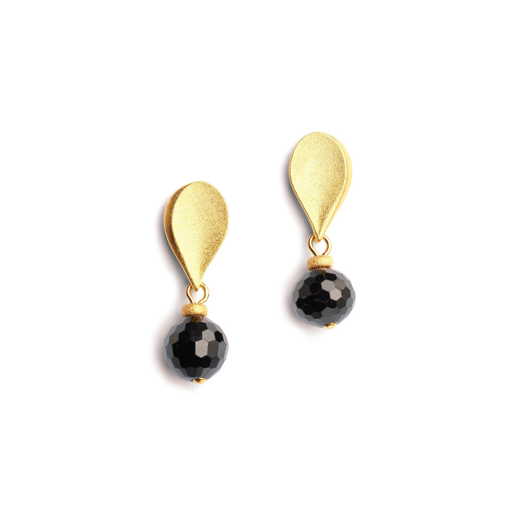 Black Spinel Aquisena Earrings
