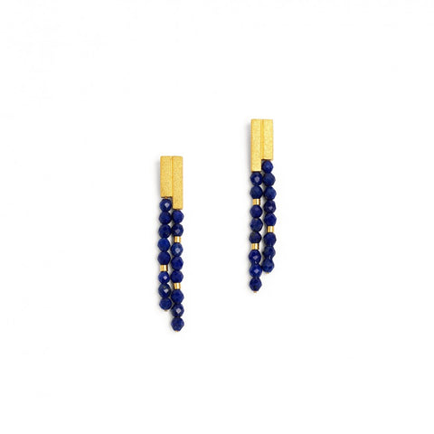 Yanizzi Lapis Dangle Earrings - Silverscape Designs
