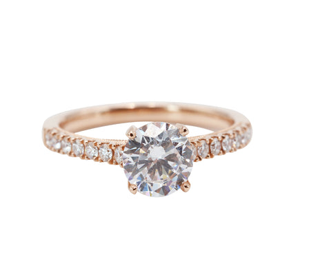 Rose Gold Solitaire Engagement