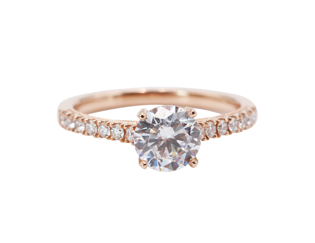 Detailed Diamond Band Engagement Ring