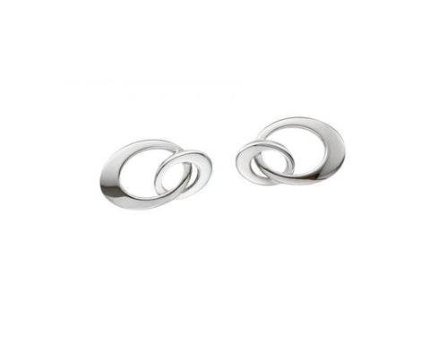 Ed Levin Sterling Silver mini entwined earrings