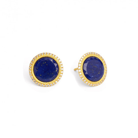 Tisanni Lapis Lazuli Stud Earrings