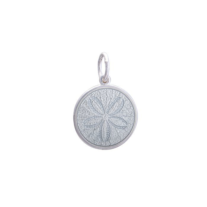 Alpine White Sand Dollar Pendant in Sterling Silver 19mm - Silverscape Designs