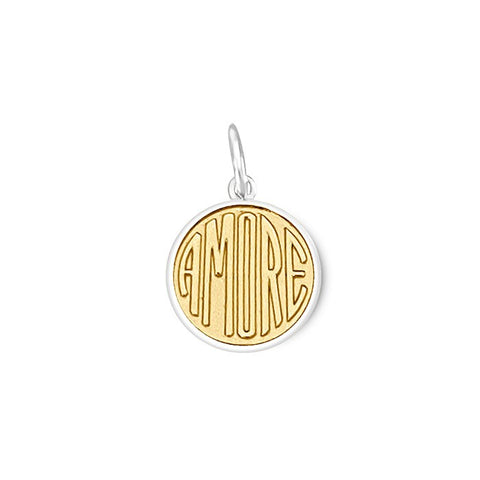 Gold Amore Pendant in Sterling Silver 19mm - Silverscape Designs