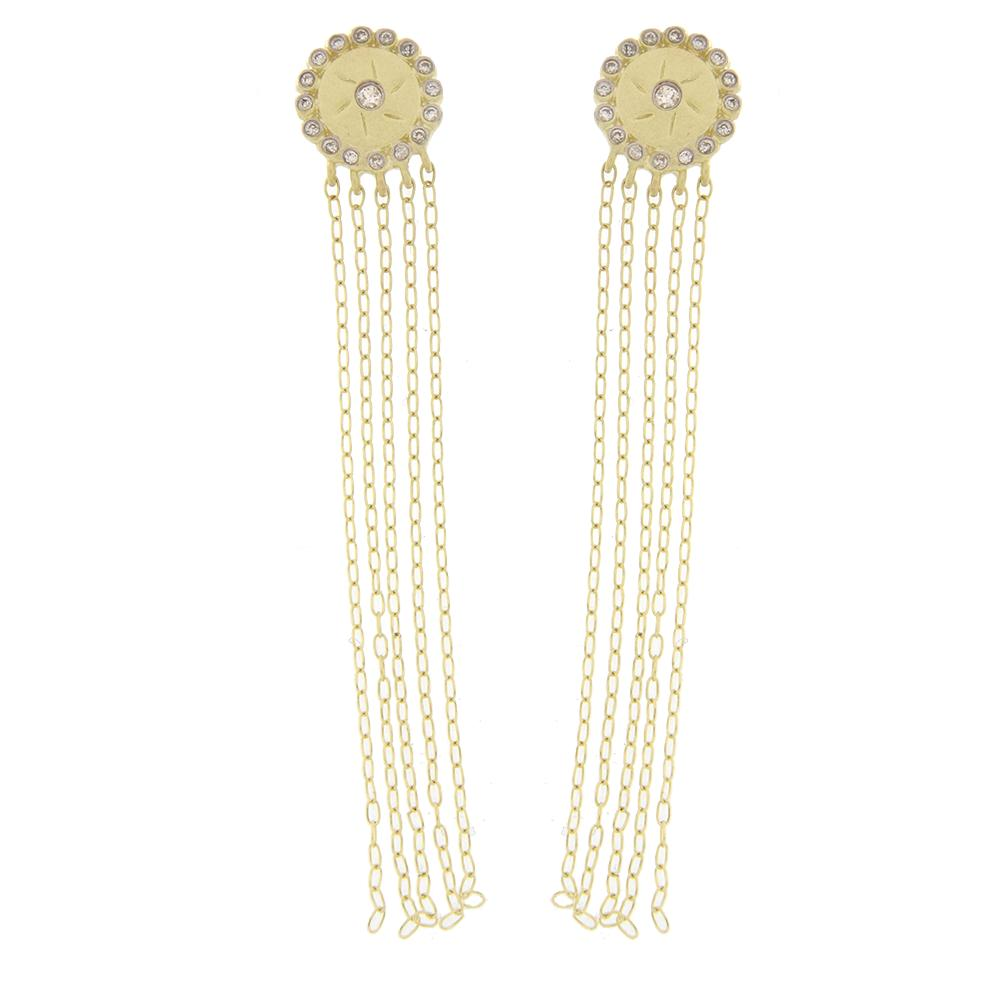 meiraT Designs Yellow Gold Diamond Dangle Earrings