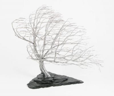 Randy Adams Windswept Tree Aluminum and Vermont Slate