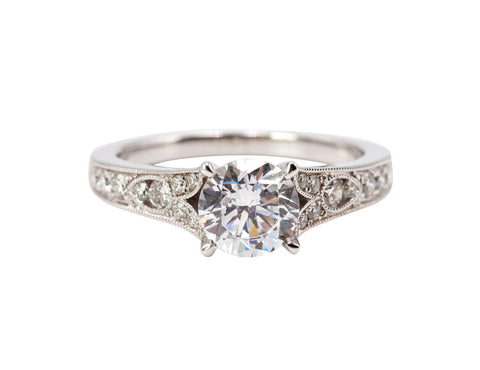 Sylvie Antique Inspired Engagement Ring