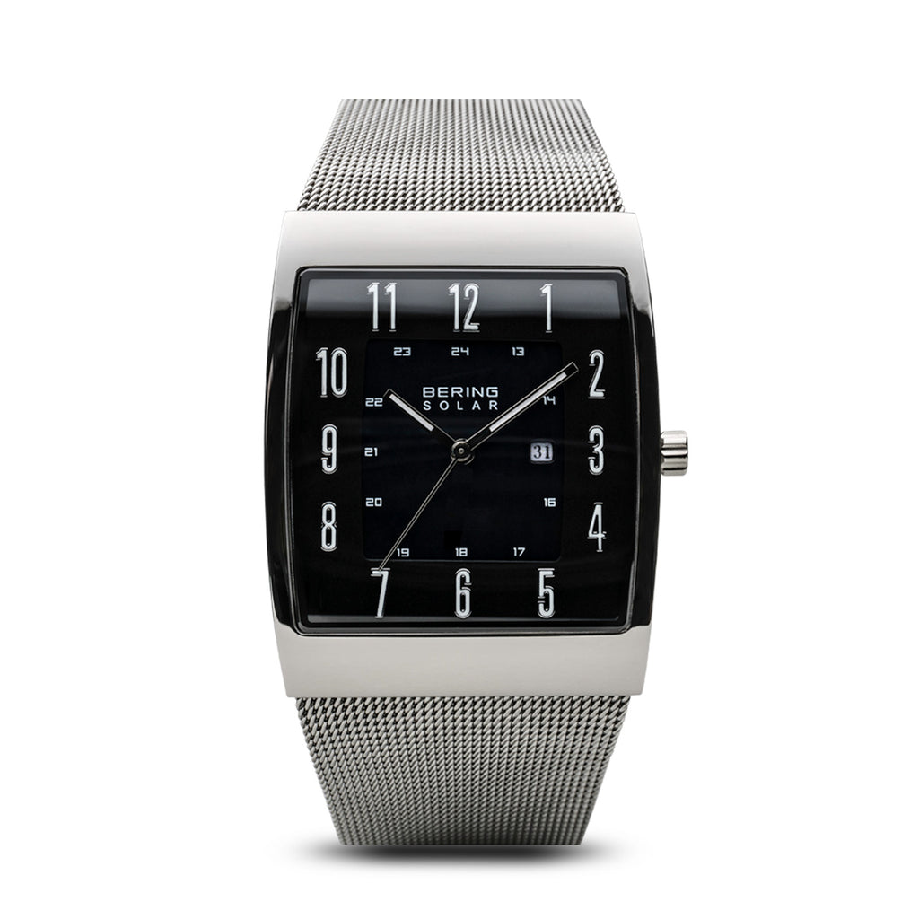 Polished Silver Solar Watch - Silverscape Designs