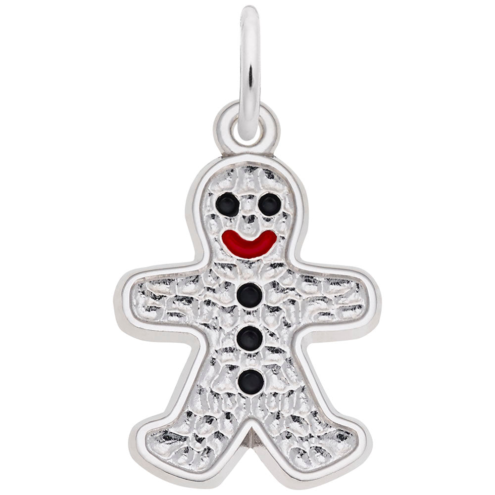 Gingerbread Man Charm - Silverscape Designs