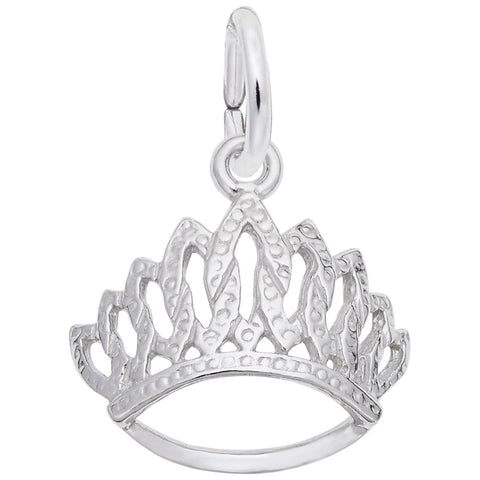 Rembrandt Charms Sterling Silver Tiara Charm