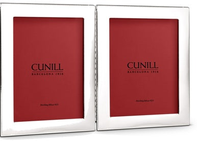 Cunill Silver 4x6 Double Picture Frame - Silverscape Designs