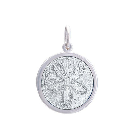 Alpine White Sand Dollar Pendant in Sterling Silver 27mm - Silverscape Designs