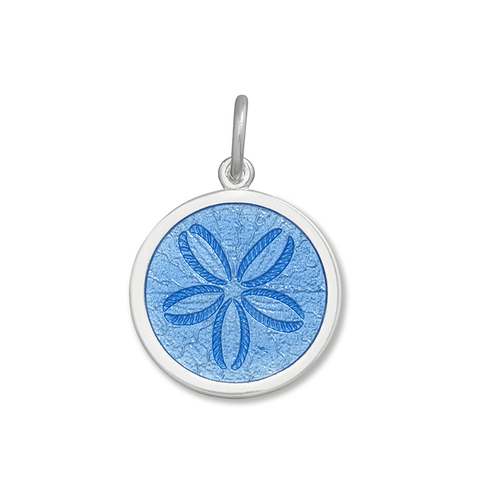 Periwinkle Sand Dollar Pendant in Sterling Silver 27mm - Silverscape Designs