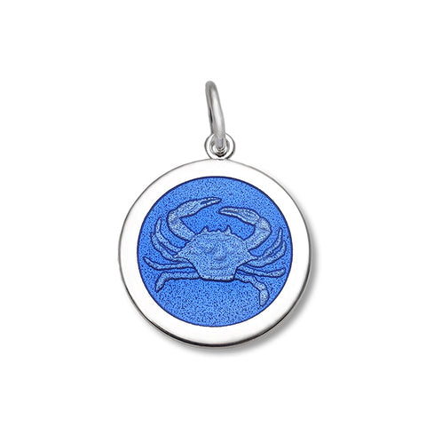 Periwinkle Crab Pendant in Sterling Silver 27mm - Silverscape Designs